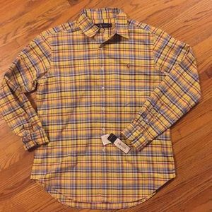 Ralph Lauren classic fit button down yellow  polo